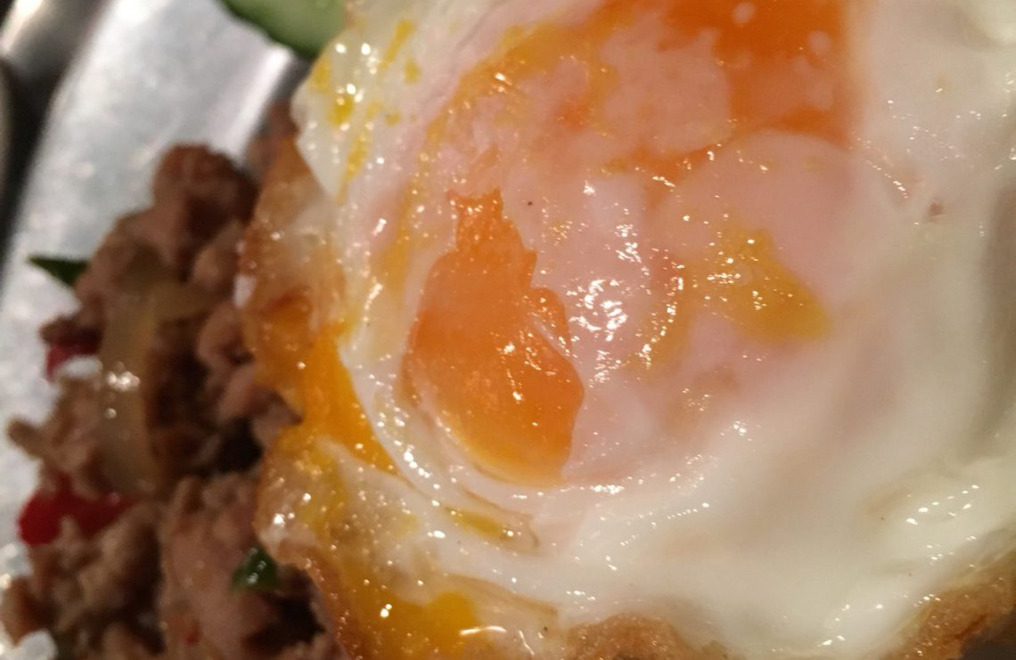 egg, rice, dish, meat